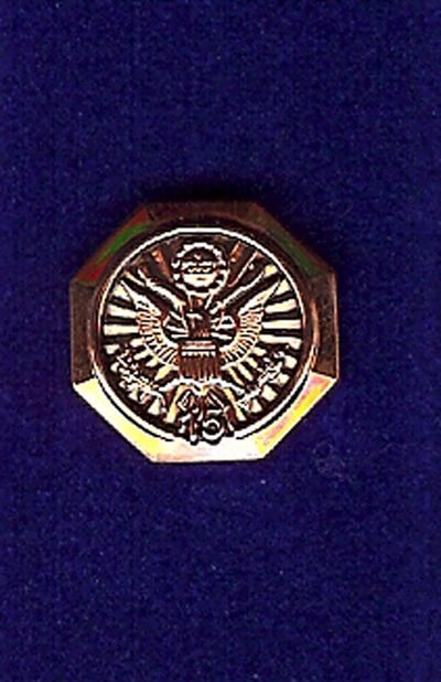 While serving in Afghanistan, US Army SSGT Michael Shugrue was given this pin by Vice President Richard Cheney as an acknowledgement of his service.