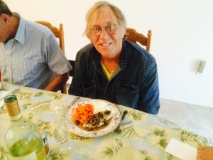 "San Francisco artist ""Rube"" (Ted Nichols) joined us for dinner"