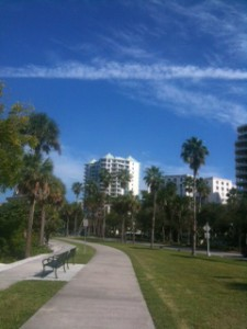 Go for a walk or a jog on the trails along US-41, into Bayfront Park, or across the Ringling Bridge.
